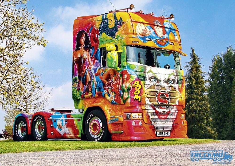 art truck foto leinwand 60x40cm mit keilrahmen mod les r duits de camions. Black Bedroom Furniture Sets. Home Design Ideas