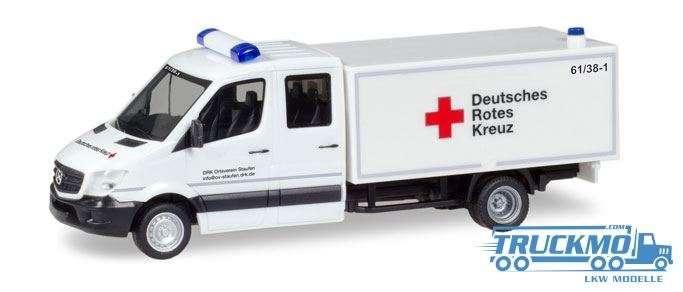 Herpa DRK Staufen Mercedes-Benz Sprinter Doppel-Kabine mit Koffer 093651