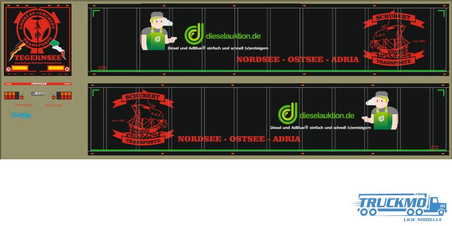 Decal Andreas Schubert Dieselauktion.de Kofferauflieger 1:50 LT1146.2