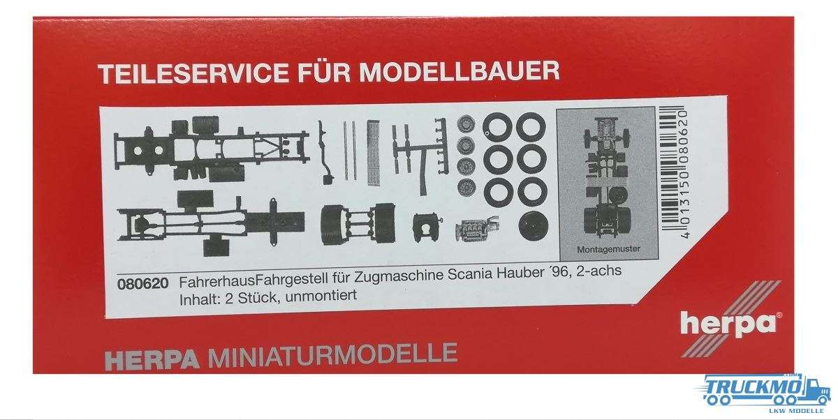Herpa LKW Modell Zugmaschinen-Fahrgestell Scania Hauber 4er Reihe 2-achs 080620