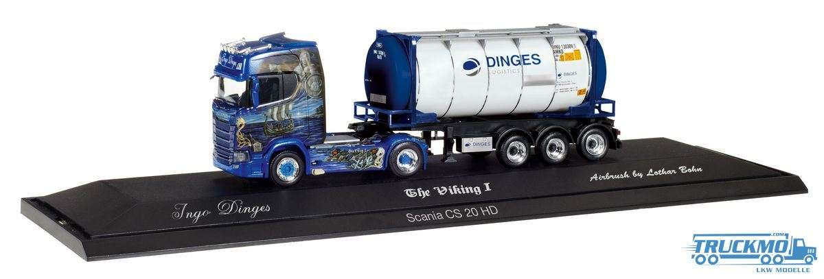 Herpa Ingo Dinges Scania CS 20 HD Tankcontainer-Sattelzug 121811