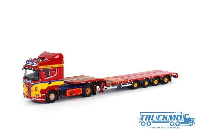 WSI Klappenecker Scania R Highline Nooteboom Semittieflader (4 Achs)