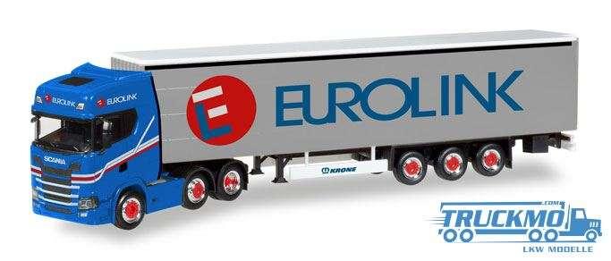 Herpa Eurolink Scania CS HD 6x2 Gardinenplanen-Sattelzug 308526