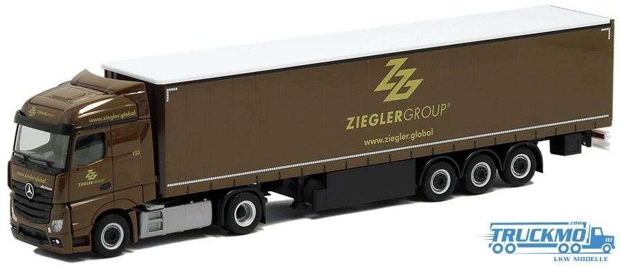 Herpa Ziegler Group Mercedes-Benz Actros Streamspace Gardinenplanen-Sattelzug 310260