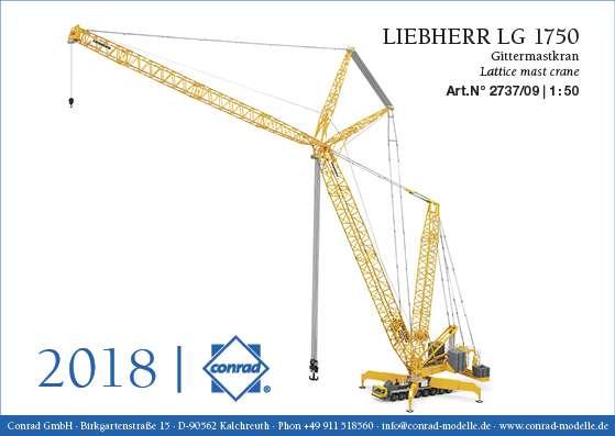 Conrad Modelle Liebherr LG 1750 Gittermastkran 2737/09
