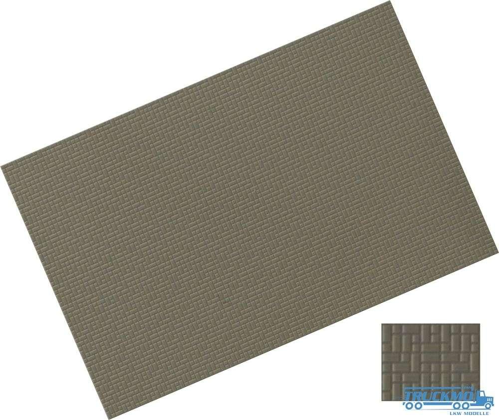Rietze Verbundpflasterplatte 122x79mm betongrau 2 Stk 70651
