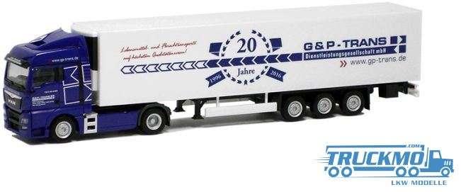 Herpa G & P Trans LKW-Modell MAN TGX XLX Kühlkoffer-Sattelzug 923002