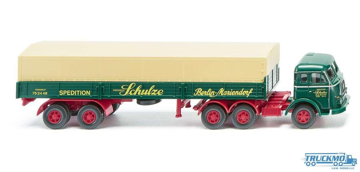 Wiking Sped. Schulze Henschel HS 165 T Pritschensattelzug 048802