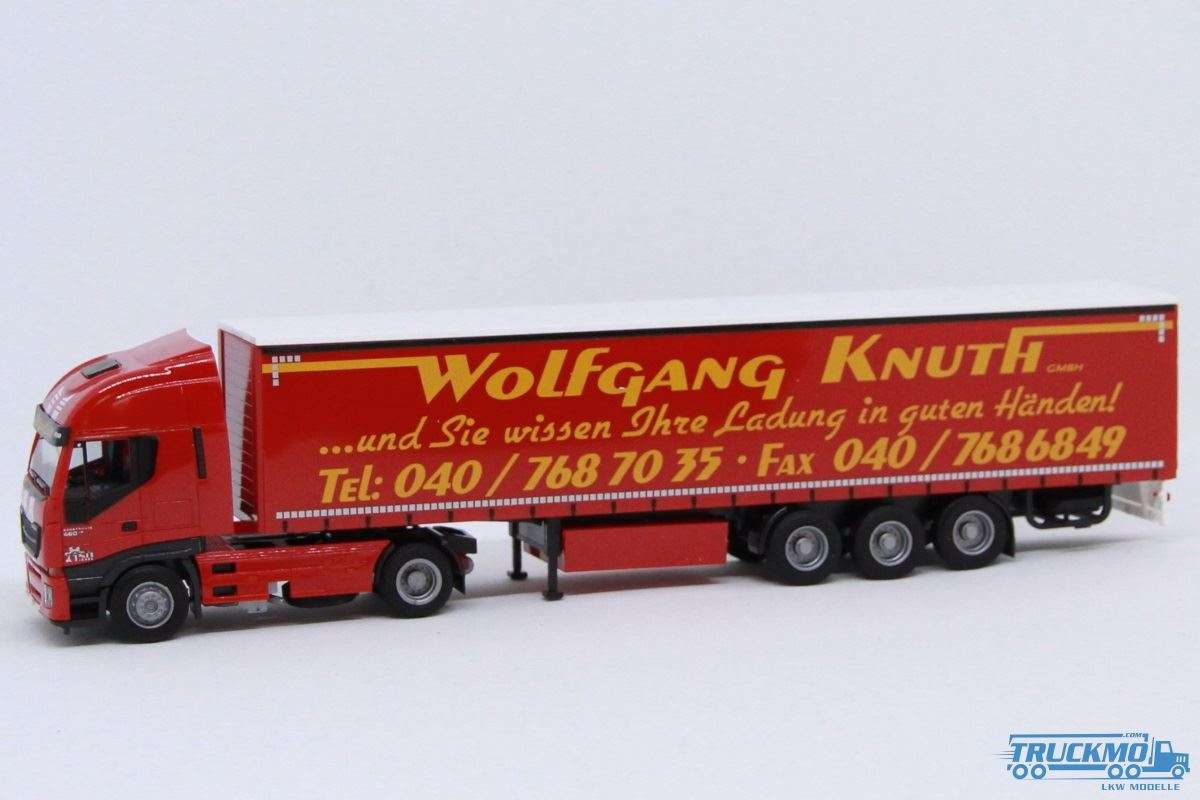 AWM Knuth Iveco Stralis HiWay Planenauflieger 75408