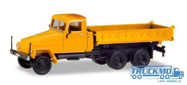 Herpa IFA G5 Dreiseitenkipper, orange (Geänderte Kabine und neuer Aufbau) 308663