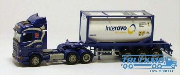AWM Interovo Scania 09 Highl. Aerop. 20' Tankcontainer Sattelzug LKW Modelle
