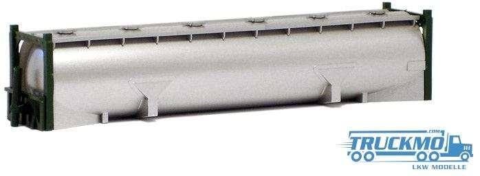 AWM 40ft. Drucksilcontainer silber lackiert Rahmen grün 490577