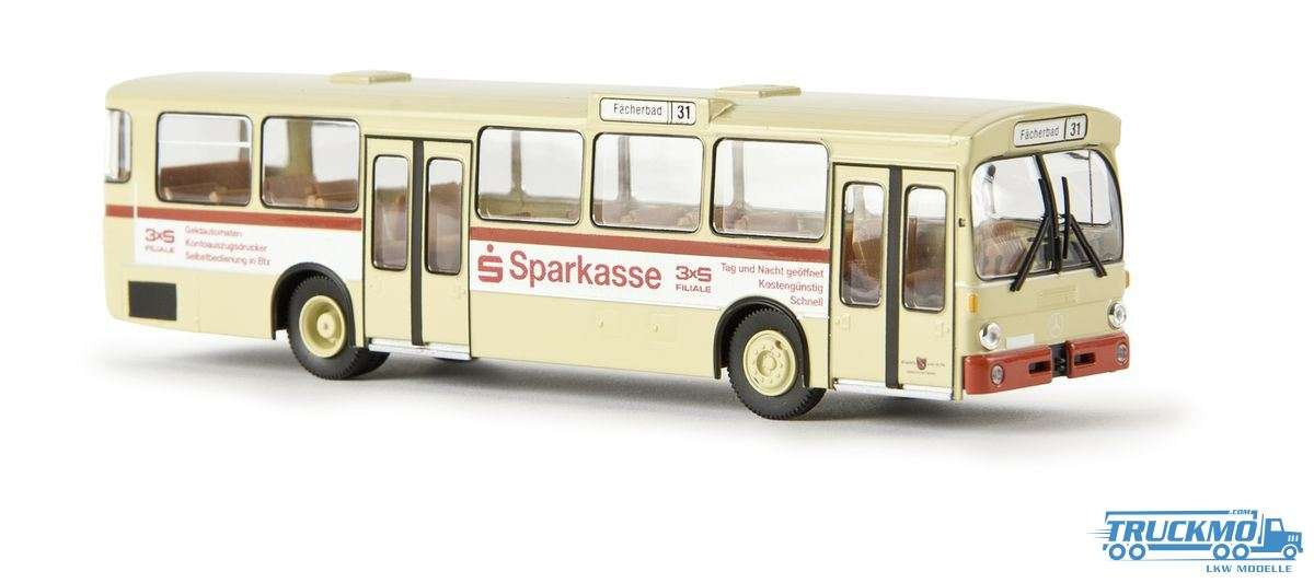 Brekina Karlsruhe Sparkasse Mercedes Benz O 305 Stadtbus 50729
