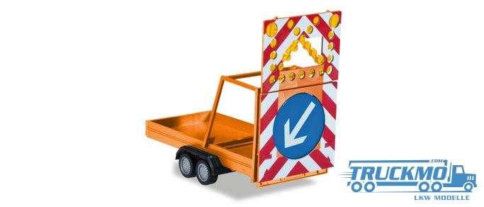 Herpa Verkehrssicherungsanghänger kommunalorange 052368-002
