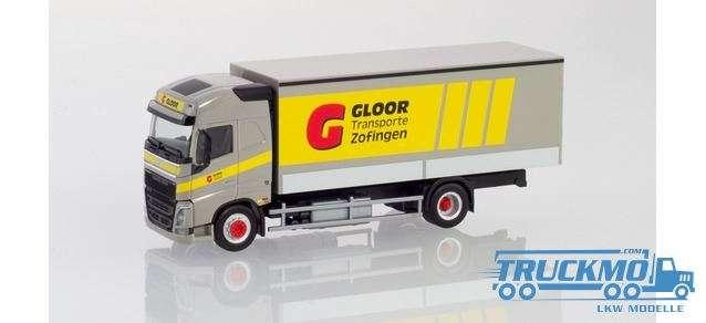 Herpa Gloor Volvo Fh Globetrotter Planen-Lkw 937762