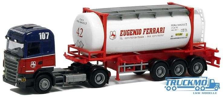 AWM Eug. Ferrari LKW Modell Scania 09 Highl. 26' Swapbody Sattelzug 8567.92