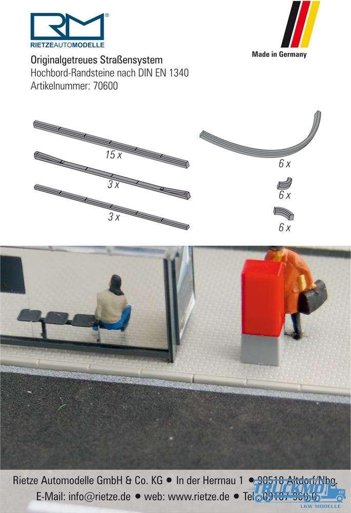 Rietze Hochbord-Randstein nach DIN EN 1340 70600