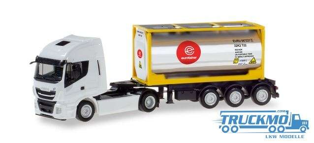 Herpa Eurotainer Iveco Stralis XP Chromtankcontainer-Sattelzug 310604
