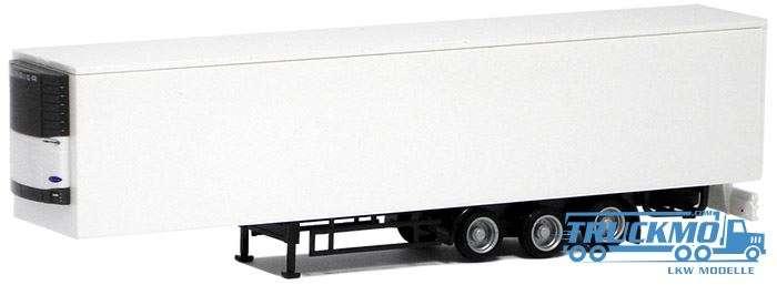 AWM Mega Euro Kühlkoffer Auflieger 3 Achs (weiß, Chassis scharz)