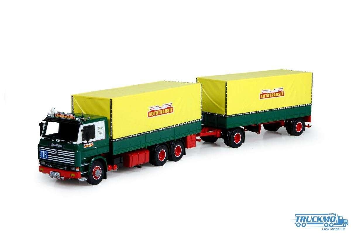Tekno Autotransit Scania 142 Motorwagen mit Anhänger 73804