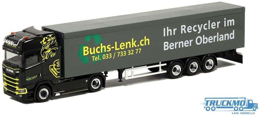 Herpa Buchs Lenk Scania CS HD Schubboden-Sattelzug 934565