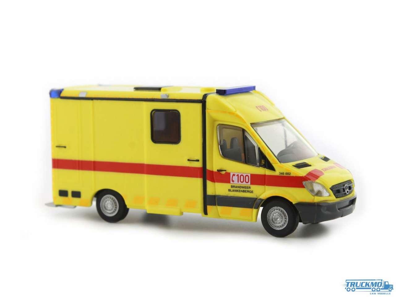 Rietze Brandweer Blankenberge Mercedes Benz System Strobel RTW 61783