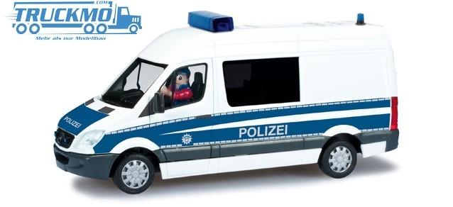 """Herpa Mercedes-Benz Sprinter Halbbus Bundespolizei """"DioramaReady"""""""