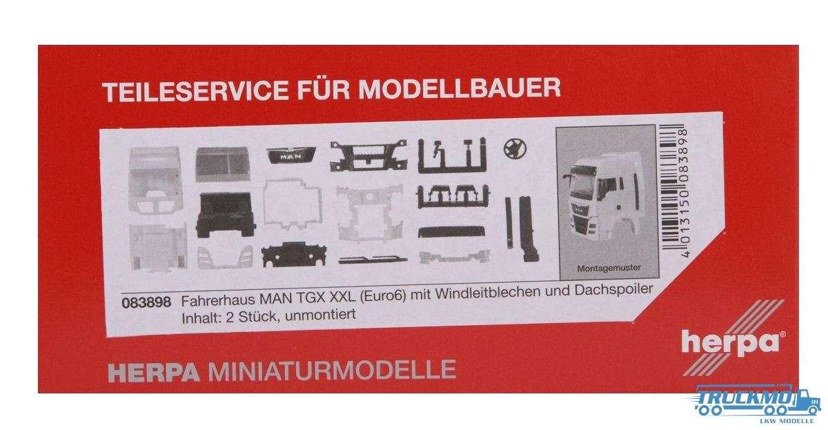 Herpa Fahrerhaus MAN TGX XXL Euro 6 mit WLB & Dachspoiler Inhalt: 2 Stück LKW Modelle