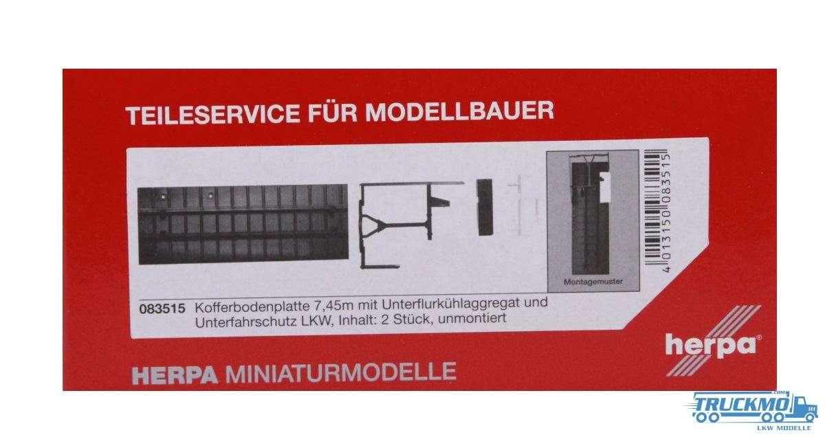 Herpa Kofferbodenplatte (7,45m) mit Unterflurkühlaggregat und U-Schutz