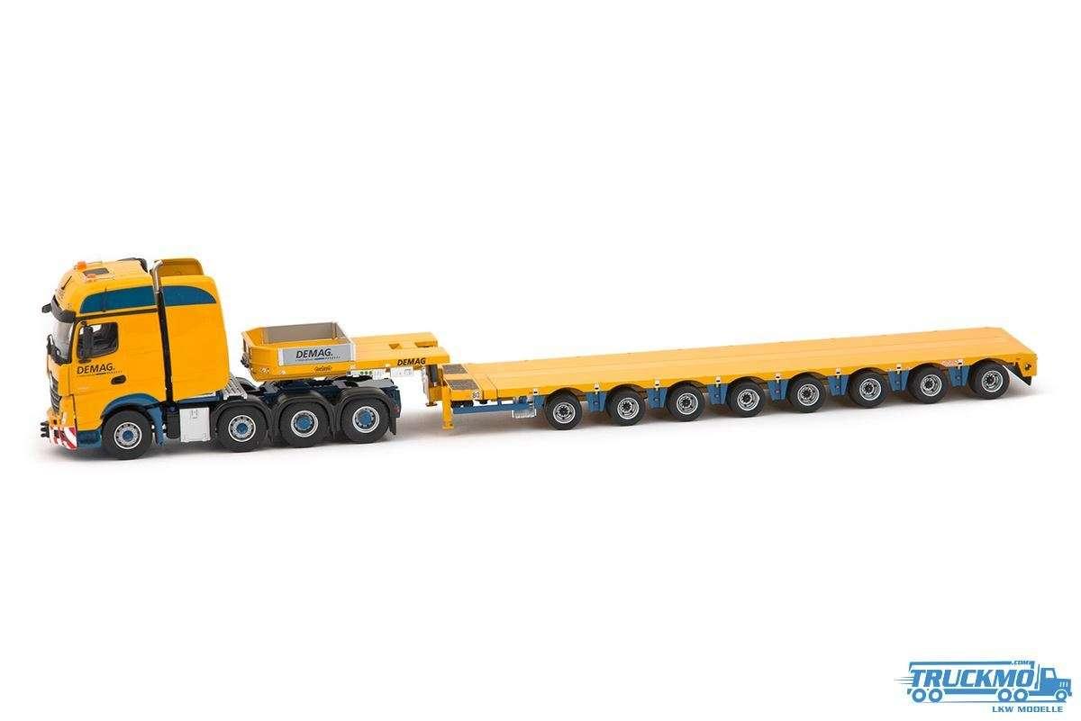 IMC models Demag Mercedes Actros GigaSpace 8x4 mit Nooteboom MCO121-08V und 10ft Container 33-0092 (
