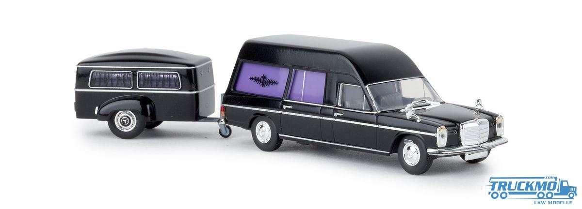 Brekina Bestattungswagen Anhänger Mercedes Benz /8 13825