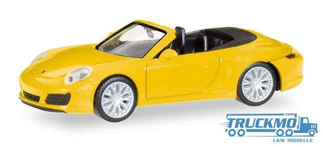 Herpa Porsche 911 Carrera 4S Cabrio racinggelb 028899