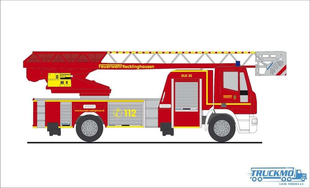Rietze Feuerwehr Recklinghausen Iveco Magirus DLK Drehleiter 68573