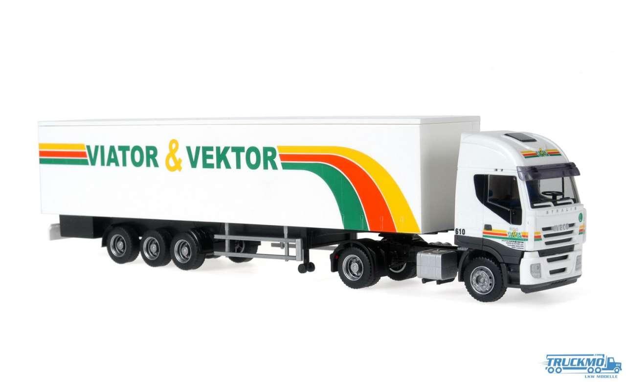 Rietze Viator + Vektor Iveco Stralis Kofferauflieger 60882