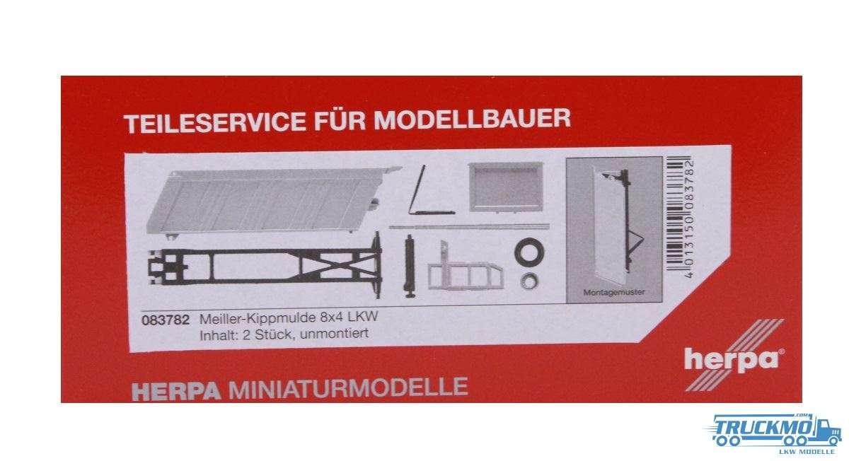 Herpa Meiller-Kippmulde für 8*4 LKW Inhalt: 2 Stück