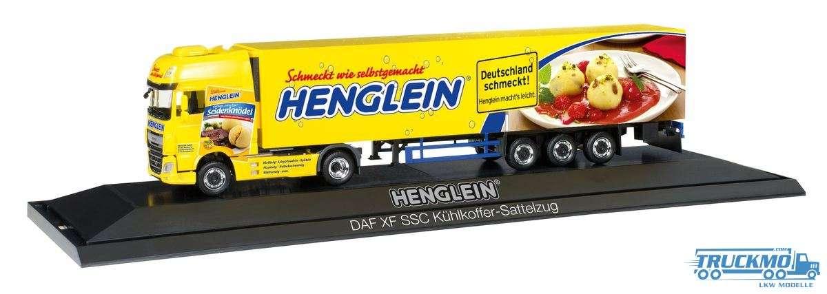 Herpa Henglein LKW Modell DAF XF SSC Euro 6 Kühlkoffer-Sattelzug (PC) 121736