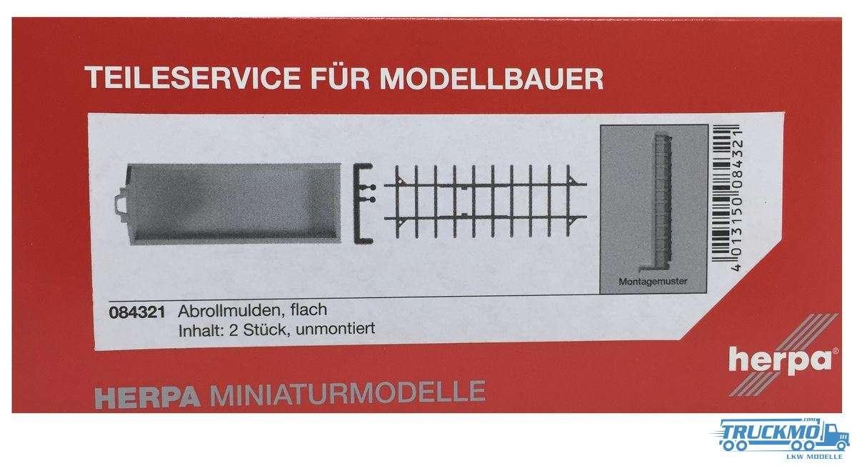 Herpa Abrollflat für alle LKW-Fahrgestelle Inhalt: 2 Stück
