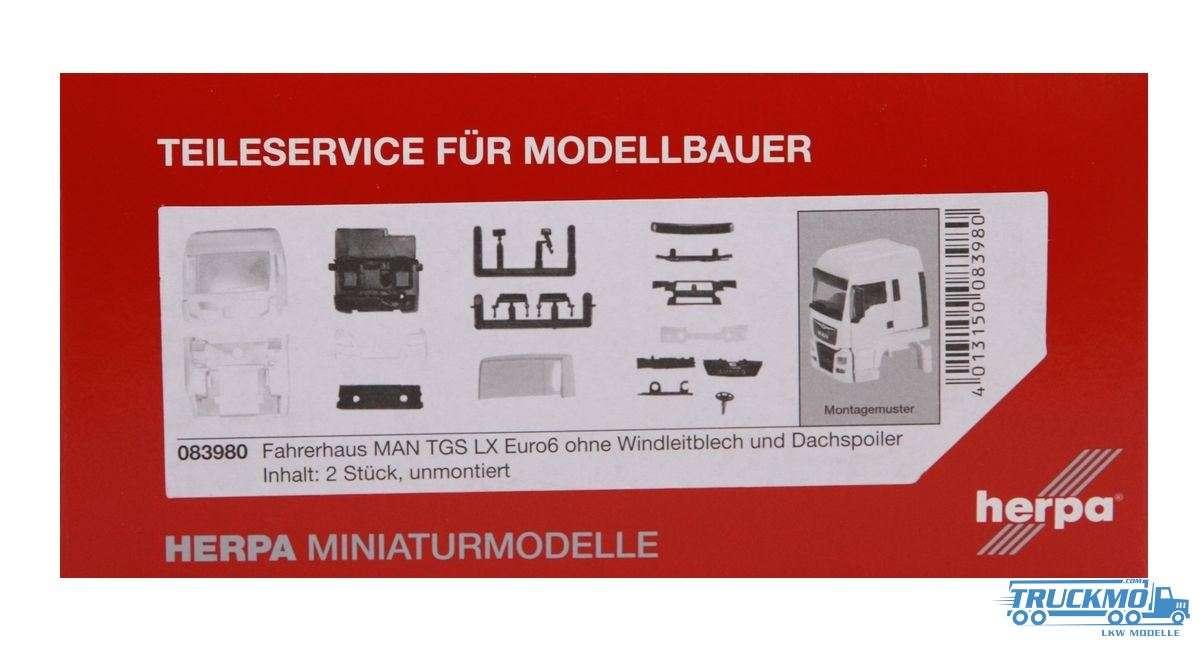 Herpa Fahrerhaus MAN TGS LX Euro 6 ohne WLB & Dachspoiler Inhalt: 2 Stk. LKW-Modell