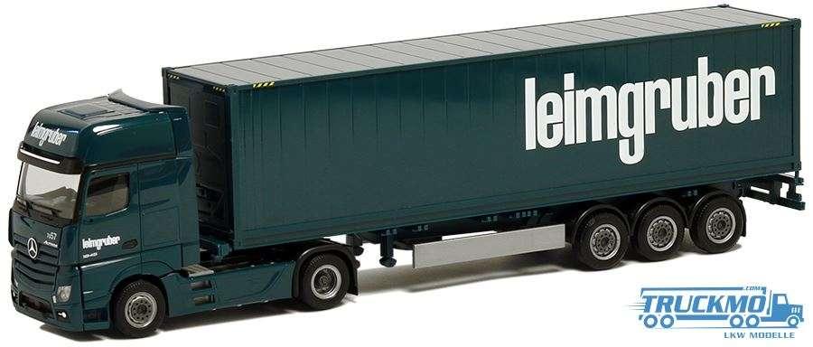 Herpa Leimgruber Mercedes Benz Actros Gigaspace Container-Sattelzug 935920