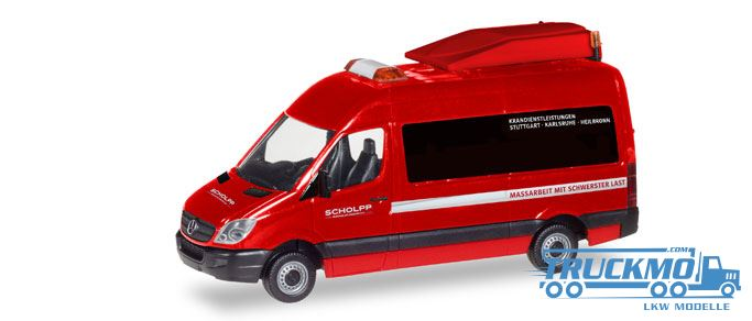 herpa scholpp mercedes benz sprinter bf3 093514 truckmo. Black Bedroom Furniture Sets. Home Design Ideas