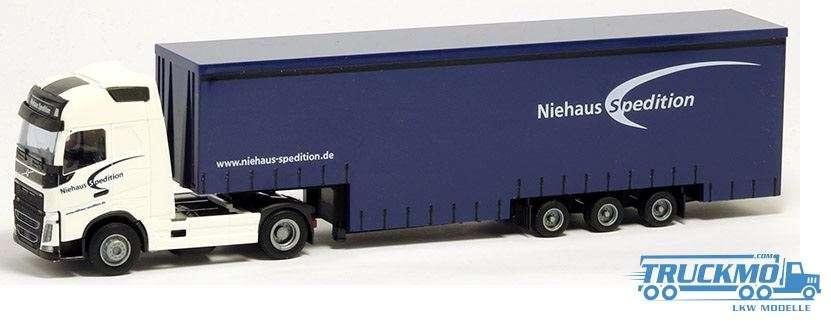AWM Niehaus Volvo FH12 Globetrotter XL Planenauflieger 75275