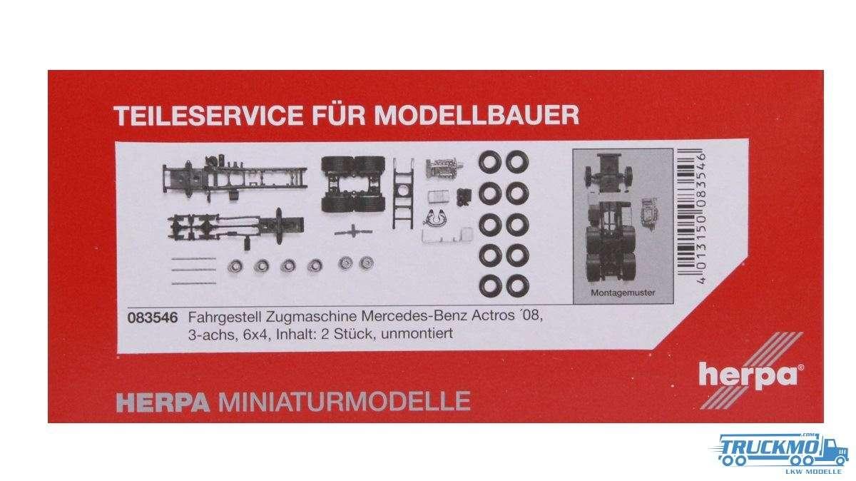 Herpa Zugmaschinen-Fahrgestell Mercdes-Benz Actros 08 3-achs Inhalt: 2 Stück