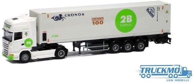 AWM 2B Shipping Scania 09 Topline 45' Kühl Container Sattelzug 74932