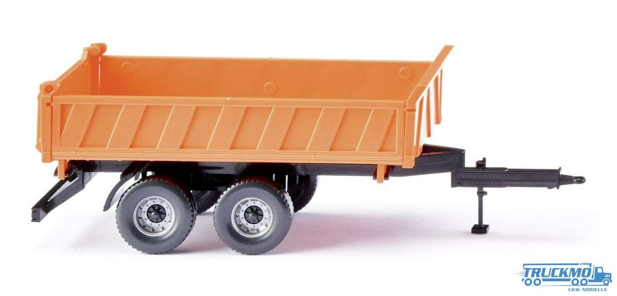 Wiking three way tipper trailer orange 067804