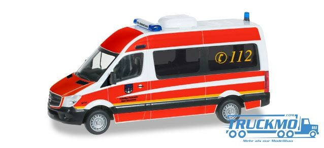 Herpa Freiwillige Feuerwehr Holzminden Mercedes-Benz Sprinter Bus Hochdach Mannschaftstransportwagen
