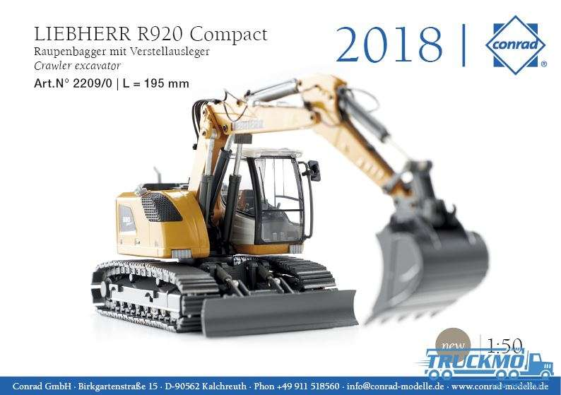 Conrad Liebherr R920 Compact crawler excavator with adjustable boom 2209/0