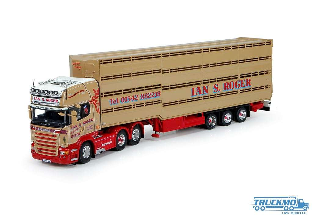 Tekno Roger Ian S. LKW Modell Scania R-Serie Topline 6x2 mit Houghton Parkhouse Herde Auflieger 7149