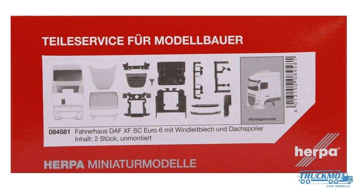 Herpa Fahrerhaus DAF XF SC Euro 6 mit Windleitblech und Dachspoiler 084581