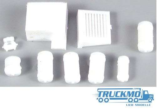 AWM kleine Drucklufttanks weiß 12 Stück 90055