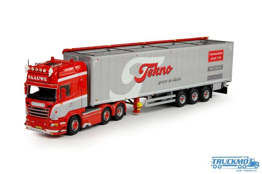 Tekno Paauwe Johan Scania R-Streamline Topline mit Cargo Floorauflieger LKW-Modell 69299